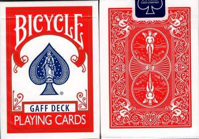 Bicycle Gaff Rider Back Red Deck Of Playing Cards By Bocopo Magic Tricks Gimmick