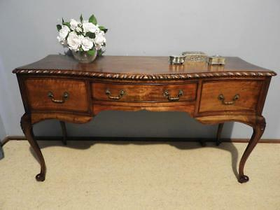 Vintage French Provincial Queen Anne Writing Desk Hall Table Dresser Sideboard