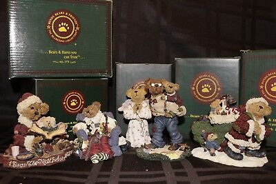 Boyds, Bearstone Collection ~ Lot of 5 ~ Christmas Figurines