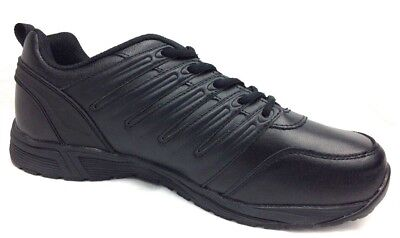 97f234a3a782e8 Dickies Mens Apex Slip Resistant Work Shoes Leather Lace Up Black Size 12 W