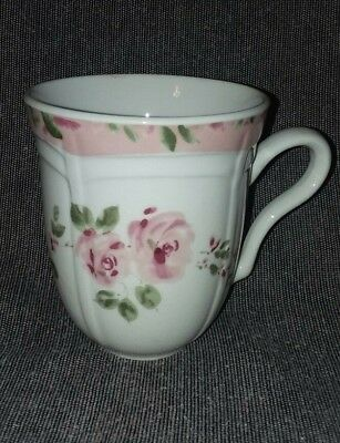 Everyday Gibson Housewares China Coffee Cup Mug Pink Roses Sweet Affection
