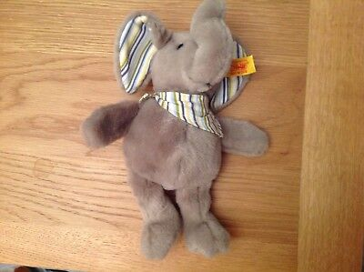 Steiff Ellie Elephant Stuffed Animal Soft And Cuddly Plush Animal