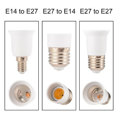 5pcs LED Light Bulb Socket E14/E27 Base Screw Adapter Extension Converter Holder
