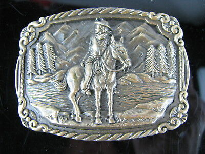 "Vintage Small Cowboy Western Belt Buckle for 1"" wide belt"