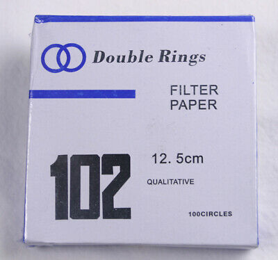 FILTER PAPER 12.5 cm 100 DISCS QUALITATIVE MEDIUM 102