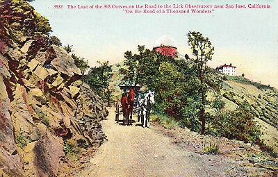 Horses and Buggy Road to Lick Observatory San Jose CA Vintage Postcard 1910s B22