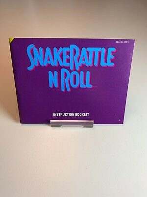 Nintendo NES Manual SnakeRattle N Roll SCN
