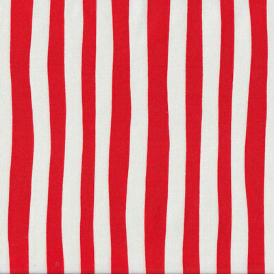 Dr Seuss Red and White Stripe Kids Quilt Fabric FQ or Metre *New*