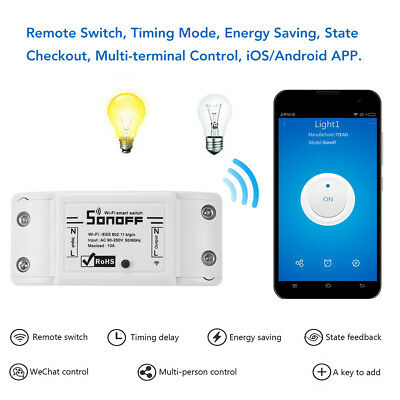 Sonoff WiFi Smart Switch Module Socket Home Electric Control for Alexa Google