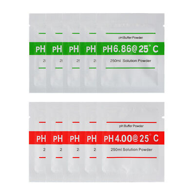 pH Buffer Solution Powder 4.01 6.86 for pH Tester Meter Accurate Calibration