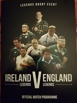 Ireland v England February 2019 legends rugby match programme Dublin