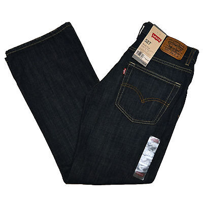 Levis 527 Boys Jeans Casual Bootcut Kid Denim Pants Bottoms 16 Dark Blue New Nwt