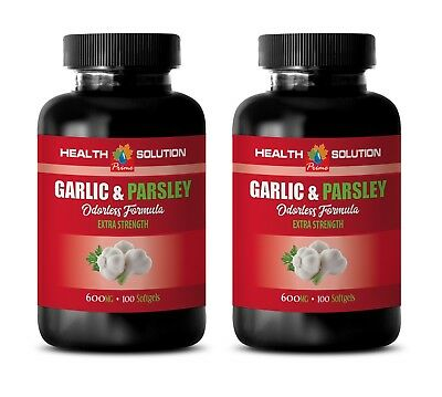 garlic supplement - Garlic & Parsley 600mg - healthy blood flow 2 Bottles