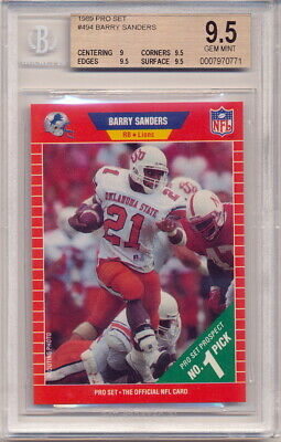 1989 Score Barry Sanders Rookie Bgs 95 With 10 Surface