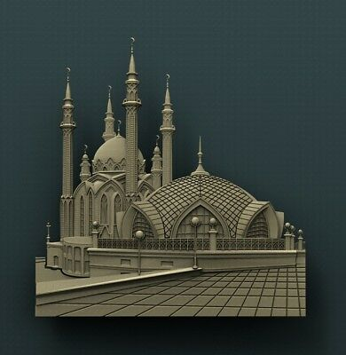 3d STL Model Relief for CNC Router Aspire _ (0333) Mosque