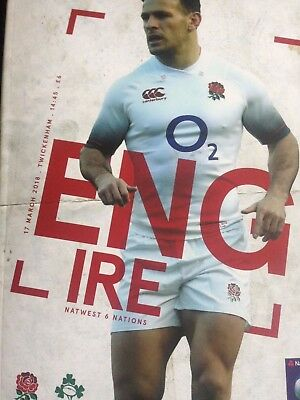 England v Ireland 2018 Grand Slam Six (6) Nations rugby programme