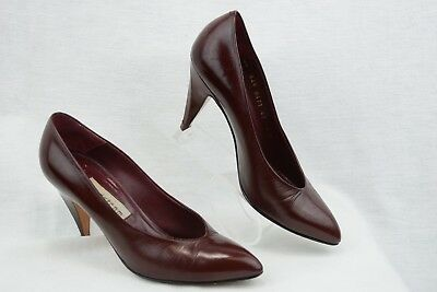 23f98cebe06 NORDSTROM Womens 6 Classic pointed toe slim heel pumps Burgundy Leather Y267
