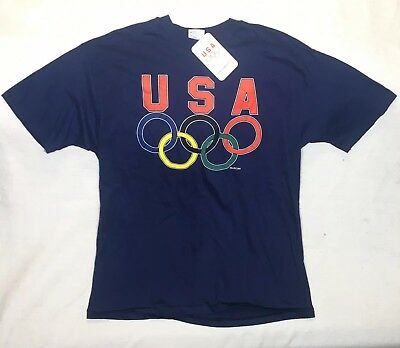 a6a4bbc5f Official USA Olympic Team Logo Shirt Vintage 90s New Mens T-Shirt XL Made in