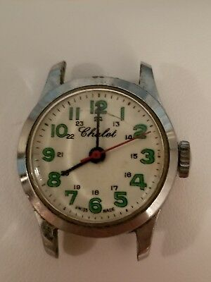 Chalet Swiss ladies manual wind up watch runs intermittently 50's/60's No Band