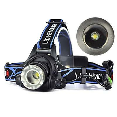 12000LM XM-L T6 LED Zoom Rechargeable 18650  Headlamp Head Light Torch BE