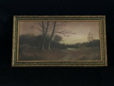 Hudson River School Pastel on Paper in the Manner of William Henry Chandler