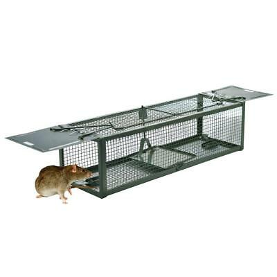 DSNOW Humane Live Animal Trap Rat Cage Mouse Catcher with 2 Door for Mice...