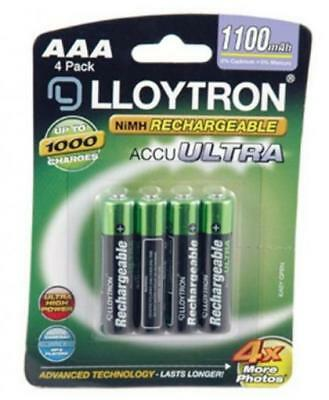 Lloytron AAA 1100mAh NIMH AccuUltra Battery (Pack of 4)