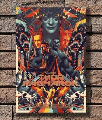 Hot Thor Ragnarok Variant Mondo Marvel Movie New Art Poster 40 12x18 24x36 T-353
