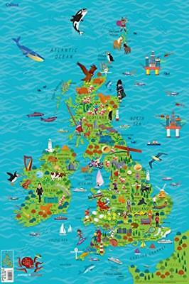 Children's Wall Map of the United Kingdom and Ireland Paperback – 4 May 2017