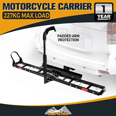 "SAN HIMA Motorcycle Motorbike Carrier Rack 2"" Towbar Arm Rack Bike Ramp Steel"