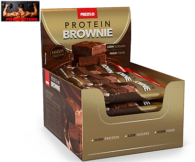 Prozis 15 x Protein Brownie 50 g - Barrette Proteiche High Protein low carbs