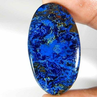 57.90Cts. 100% Natural Designer Blue Azurite Oval Cabochon Royal Loose Gemstone