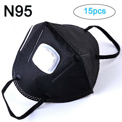 15pc Anti Pollution Mask Unisex Outdoor Protection N95 NonWoven Fabric Dust Mask