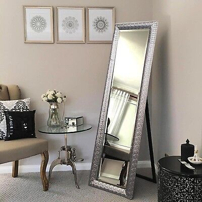 Free Standing Wall Mounted Silver Cheval Stylish Bedroom Dressing Mirror New