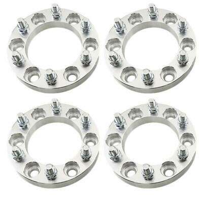 """4PCS 1"""" Inch Thick For Chevy GMC Wheel Spacers Adapters   6x139.7 14x1.5   6 Lug"""