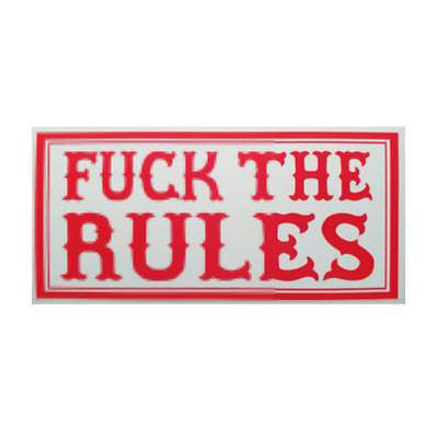 Hells Angels Support Aufkleber  F*** THE RULES Original 81 Support Sticker