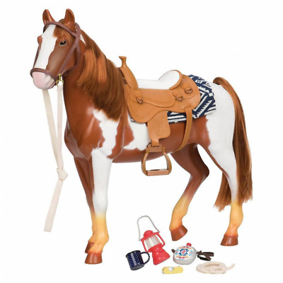 Our Generation 70.38017 Trail Riding Horse Toy, Multi-Colour, 18 inch / 46 cm