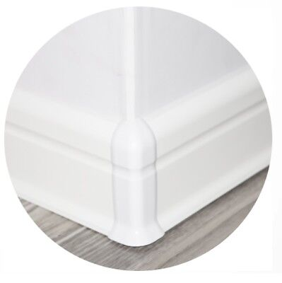 WHITE PVC SKIRTING BOARD 2,2m 8,5cm high  ACCESSORIES Cable cover Flexible edges