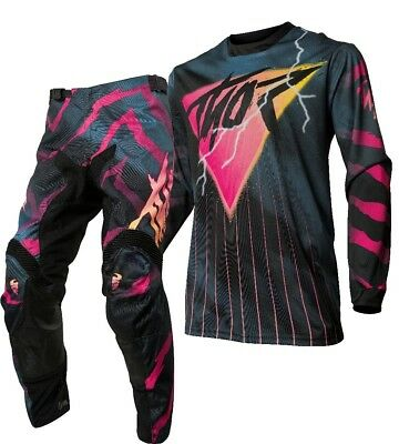 Thor MX Pulse 2080 Motocross Offroad Race Kit Gear Black Pink Adults