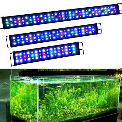 "24"" 36"" 48"" LED Aquarium Light Full Spectrum Freshwater Fish Tank Plant Marine"