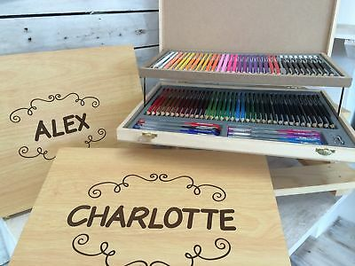 Personalised Stationary Set - Pencils - Pencil Crayons and Pens