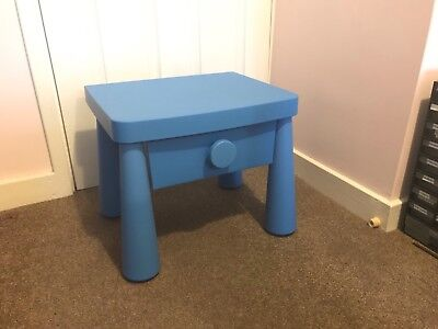 Ikea Mammut Blue Kids Child S Bedside Table With Drawer
