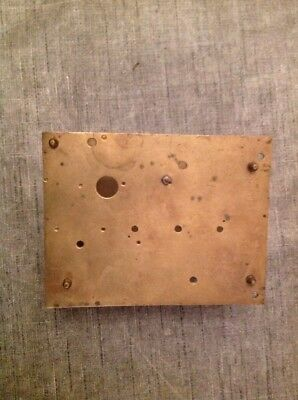 Antique Clock Movement Plates And Frame Clockmakers Repair Spare Parts