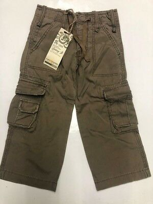 Boys Childrens Cargo Combat Army Cotton Pants Shorts Toddlers Jeans Beige Sizes
