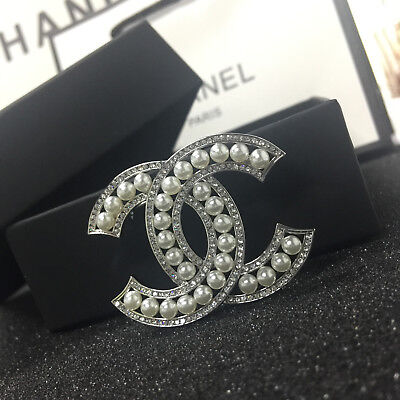 7d0ce5848 AUTHENTIC CHANEL CC Logo Crystal Earrings Silver Drop Sparkle NWT SOLD-OUT  2019 - $850.00 | PicClick