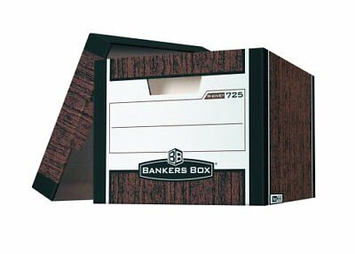 Bankers Box R-kive - Letter/legal, Woodgrain - Stackable - Heavy Duty - 10.4""