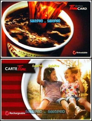 2x TIM HORTON COFFEE QUICK PAY CHILDREN SMILE ON SWING COLLECTIBLE GIFT CARD LOT