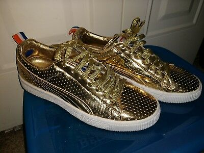 bab2db5e1e5 PUMA CLYDE GOLD edition Undefeated game time Size 7 mens or BEST OFFER