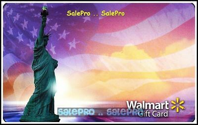 Walmart New York Statue Of Lberty United States Freedom Collectible Gift Card