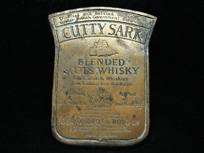 OA09161 VINTAGE 1970s **CUTTY SARK BLENDED SCOTS WHISKEY** BOOZE BELT BUCKLE